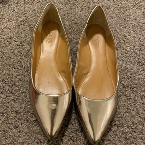 J. Crew Shoes - Gold shiny flats